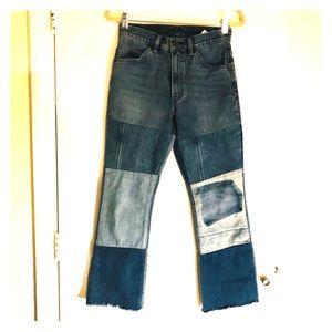 Levi's patchwork jeans, sz 26